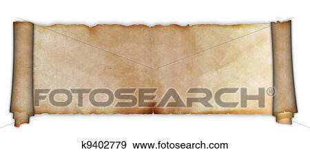 stock photograph of old parchment scroll k9402779 search stock