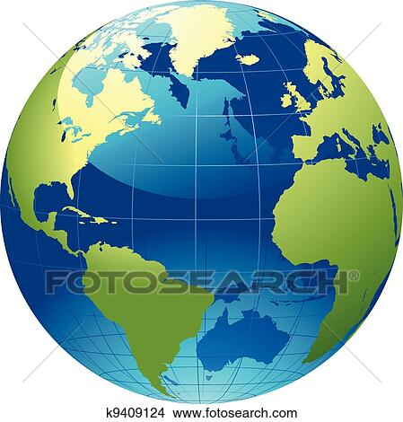 Clipart of World globe k940912...