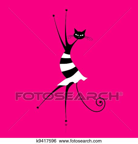 Nero cheerleader micio