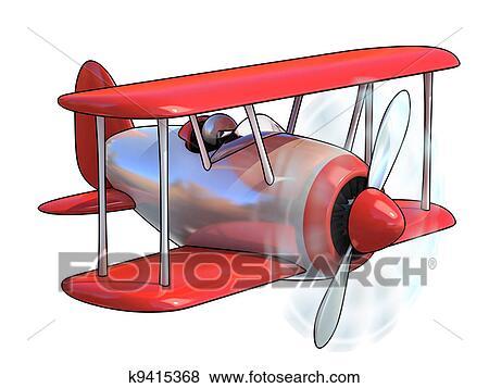 Cartone animato come aeroplano archivio illustrazioni k9415368