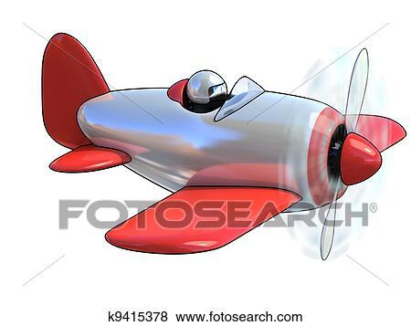 Cartone animato come aeroplano archivio illustrazioni k9415378