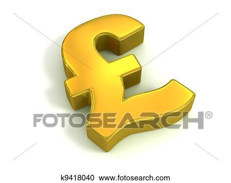 Stock Illustrations Of Golden British Pound Symbol K9418040 Search