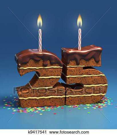 Clipart Numero 25 Formado Torta De Cumpleanos K9417541 Buscar