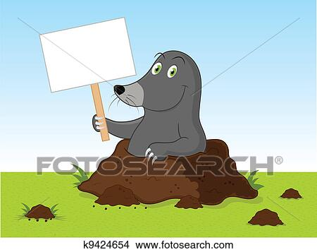 Cartone animato talpa clipart k9424654 fotosearch