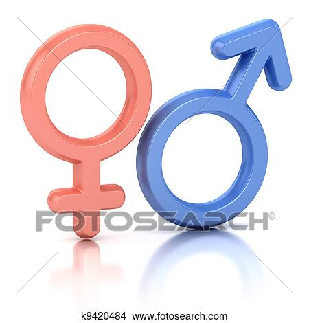 Drawings Of Male And Female Sex Symbols K9420484 Search Clip Art