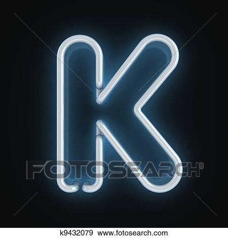 Stock Illustration Of Neon Font Letter K K9432079 Search Vector