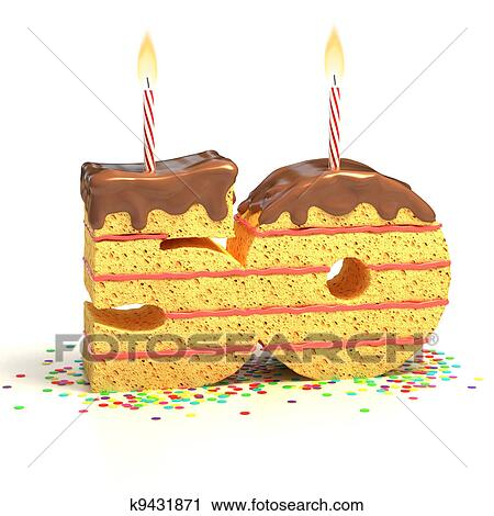 Clipart Of Number 50 Shaped Cake K9431871