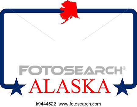 clipart of alaska frame k9444522 search clip art illustration rh fotosearch com alaska clipart map alaska clipart images