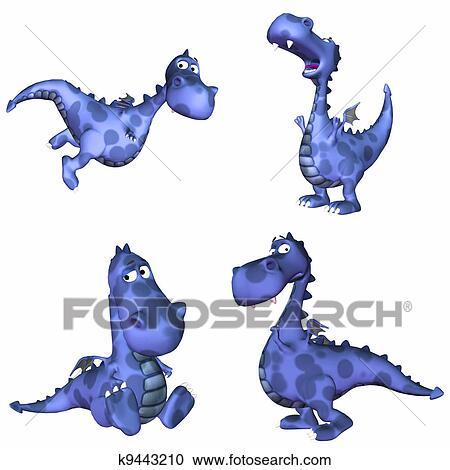 Blu Drago Pacco 2of3 Clipart K9443210 Fotosearch