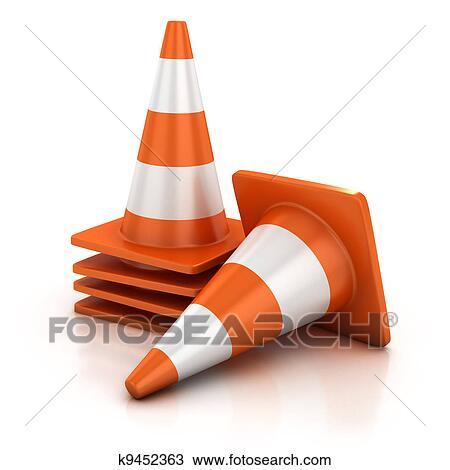 desenho cones tráfego k9452363 busca de imagens clip art