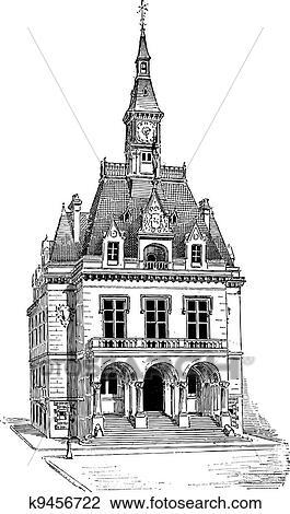 clipart mairie la fert sous jouarre dans seine et marne ile de france france. Black Bedroom Furniture Sets. Home Design Ideas