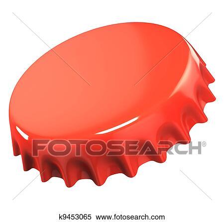 stock illustration of red bottle cap k9453065 search clipart rh fotosearch com bottle cap clip art free bottle cap clipart