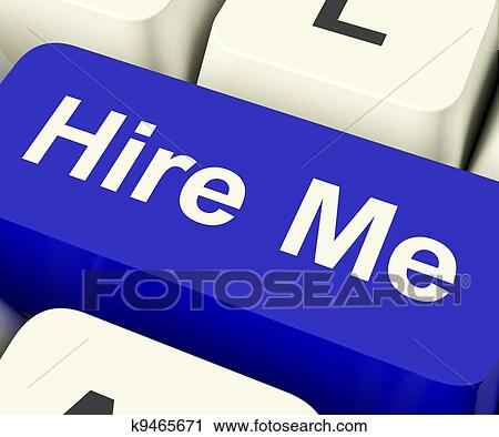 Hire Me Computer Key Showing Work And Careers Search Online Clip Art