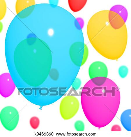 Stock Illustrations Of Multicolored Balloons Background For Birthday