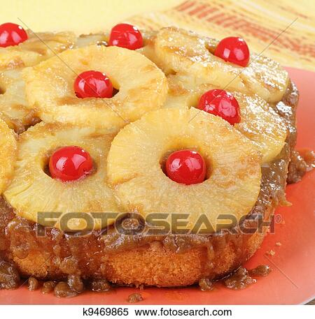 Pineapple Upside Down Cake Stock Photography | k9469865 ...