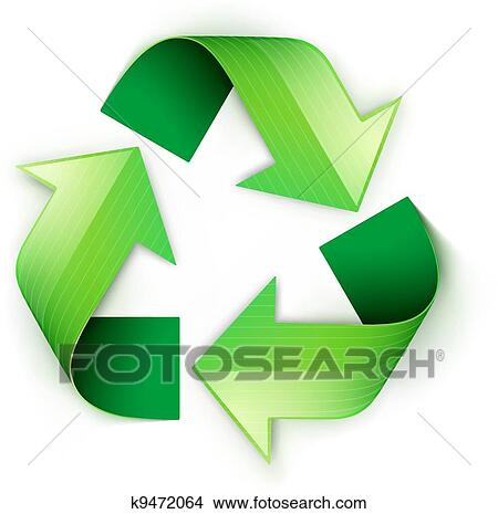 Clipart Of Green Recycling Symbol K9472064 Search Clip Art