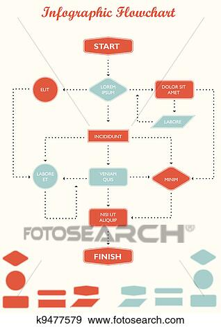 clip art of infographic flowchart vector k9477579 search clipart