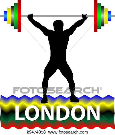 clip art of weightlifting k9474058 search clipart illustration rh fotosearch com weightlifting clipart transparent png weightlifting clipart black and white