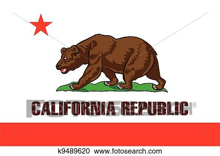 Clipart Of California Flag K9489620 Search Clip Art Illustration