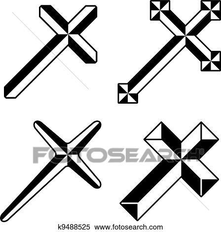 clipart of vector black christian crosses k9488525 search clip art rh fotosearch com black christian clipart religious black christian clip art for lenten
