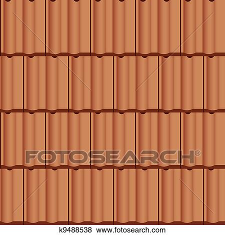 clip art of vector roof tile seamless background k9488538 search