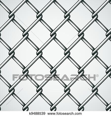 Clip Art of vector wire fence seamless background k9488539 - Search ...