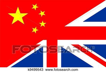 Reino Unido Bandera De China Dibujo K9499543 Fotosearch