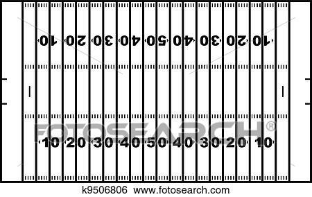 American Football Field Clip Art K9506806 Fotosearch
