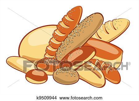 Bread سهم التوجيه تصوير Clipart K9509944 Fotosearch