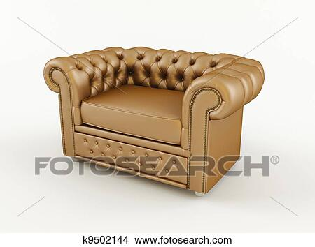 757db43a0ec Drawings of Popular classic armchair with brown k9502144 - Search ...