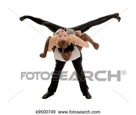 Colección de fotografía - varón y hembra, bailarín, amaestrado, jazz ...