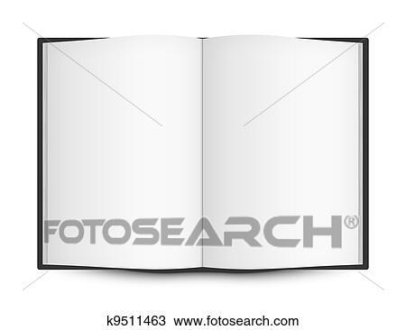 Livre Ouvert A Vide Pages Dessin