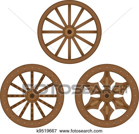 clip art of old wooden wheels k9519667 search clipart rh fotosearch com wheel clipart vector wheel clipart