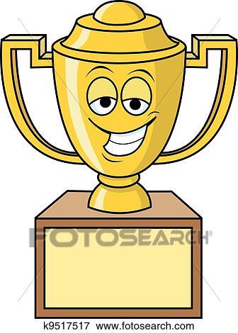 clip art of trophy k9517517 search clipart illustration posters rh fotosearch com clip art trophy cup clip art trophy free