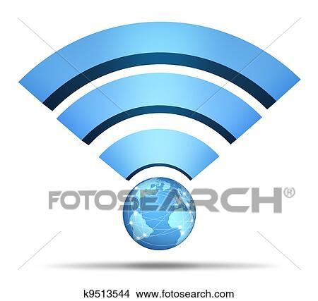 Stock Photo Of Wireless Network Symbol K9513544 Search Stock