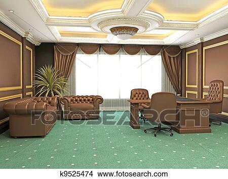 Dessins classique moderne intérieur bureau appartement
