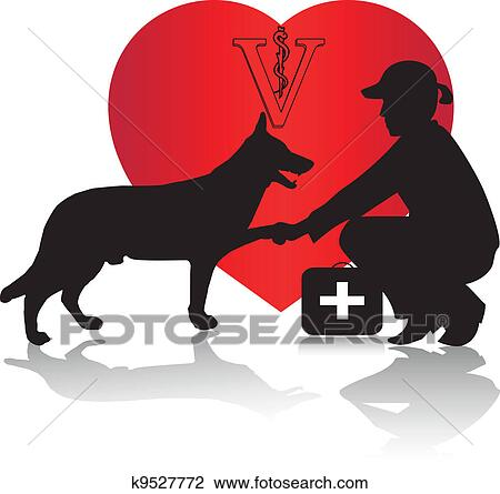 clipart of veterinarian and dog vector k9527772 search clip art rh fotosearch com veterinarian clipart images veterinarian clipart images