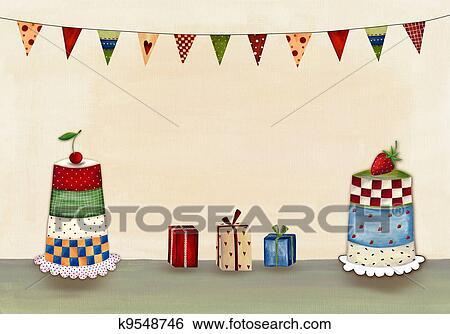 Stock Illustration Of Birthday Card K9548746