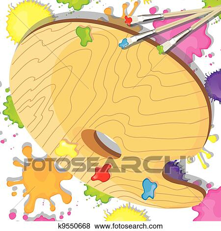 clip art of art painting party invitation k9550668 search clipart