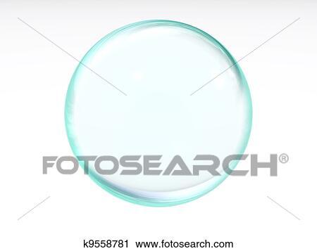 Estratto Liquido Blu Trasparente Palla Con Il Macchioline