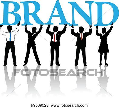 clip art of business people build brand identity word k9569528 rh fotosearch com