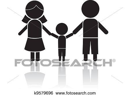 clip art of family stick figure k9579696 search clipart