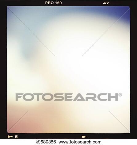 Stock Images Of Blank Medium Format 6x6 Color Film Frame K9580356