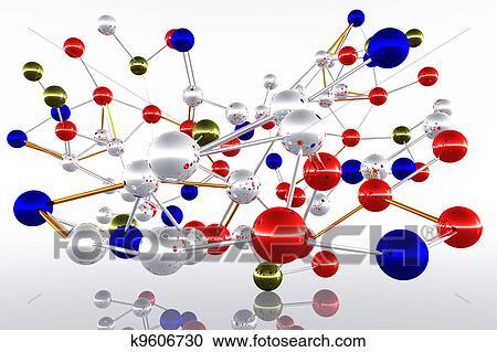 Stock illustrations of complex molecule atom structure k9606730 complex molecule atom structure 3d render ccuart Images