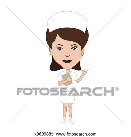 Infirmiere Clipart K9609885 Fotosearch