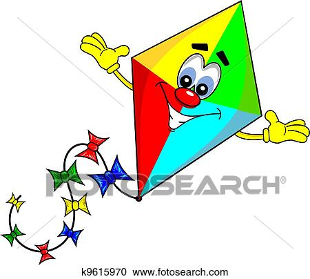 A cartoon kite Clipart | k9615970 | Fotosearch