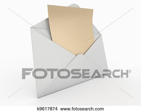 Tekeningen Mail Enveloppe En Lege Letter 3d K9617874 Zoek