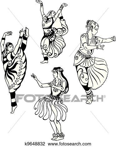 Oriental Dance Clipart K9648832