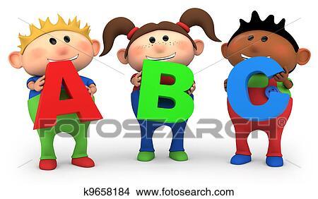 Drawings Of ABC Kids K9658184