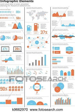 Clipart of detail infographics set k9662970 search clip art detail infographics set world map and information graphics gumiabroncs Gallery